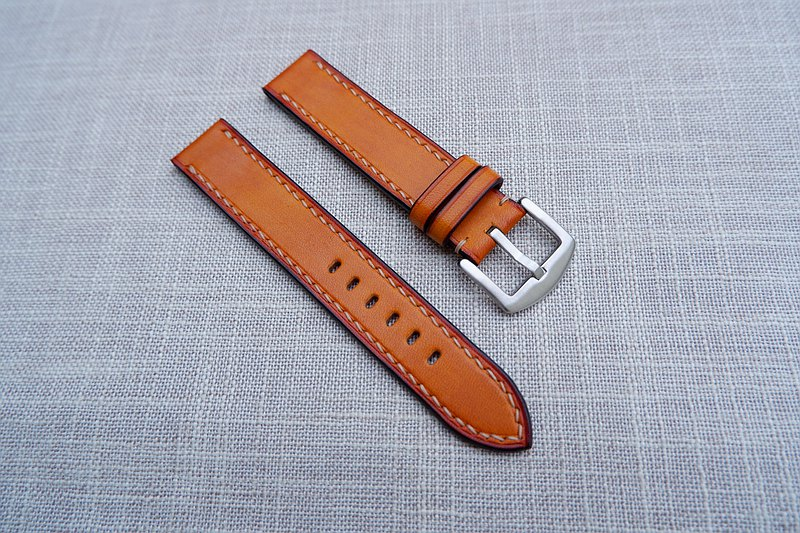 Caramel color vegetable tanned basic strap/hand strap/leather strap/custom strap
