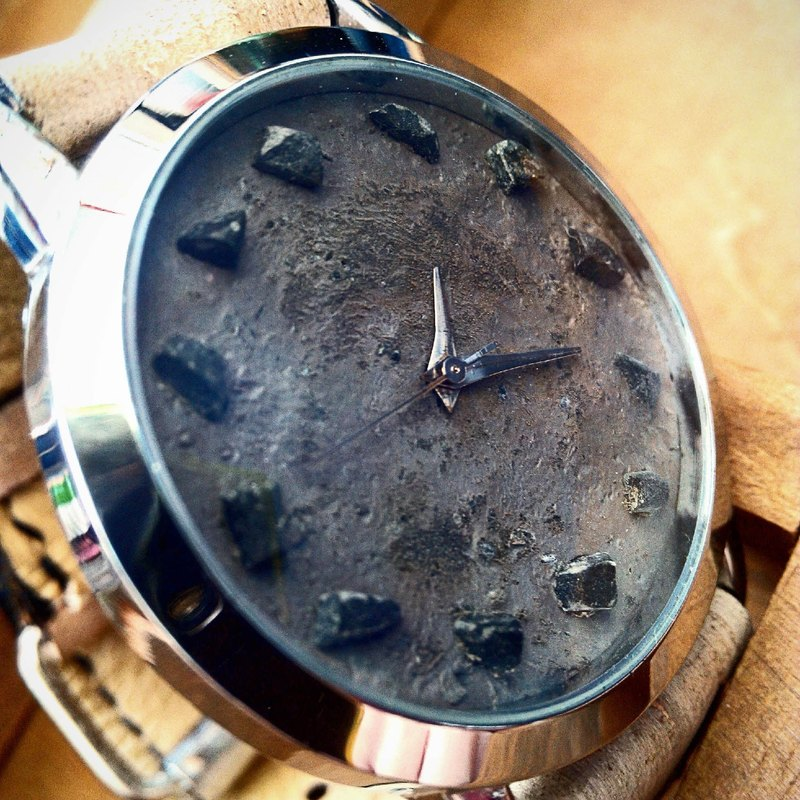 Stone 3 Handmade watch dial Handmade leather strap (SOLD 已售完)