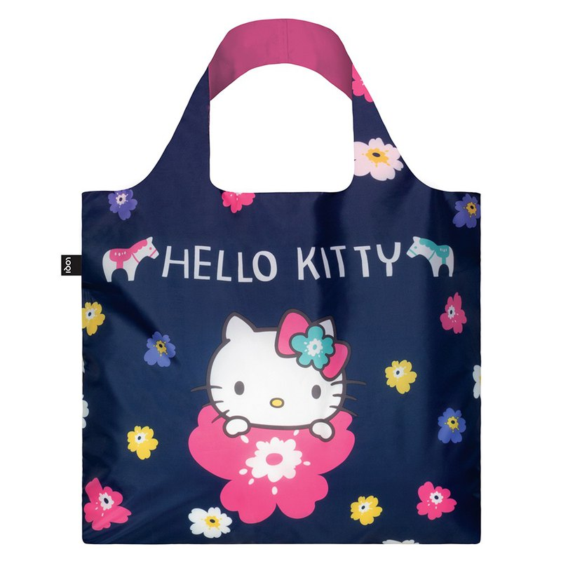 LOQI Shopping Bag - Sanrio License (Hello Kitty Nordic Dark Blue KT11)