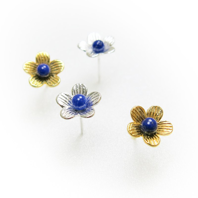 READ Dazzling Star Flower | Lapis 925 Sterling Silver 18K Gold Earrings