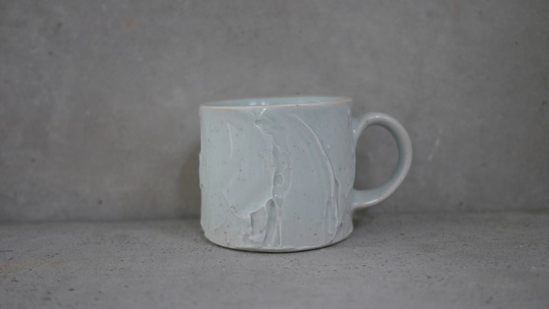 Pottery cup - stream hand-drawn embryo ceramic cup