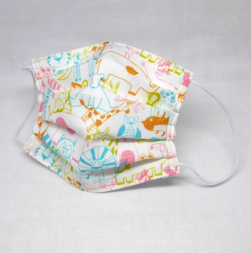Japanese Handmade gauze mask / colorful animals