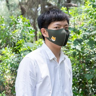 Shiba Ink Dark Green - 3D Stereo Breathing Mask