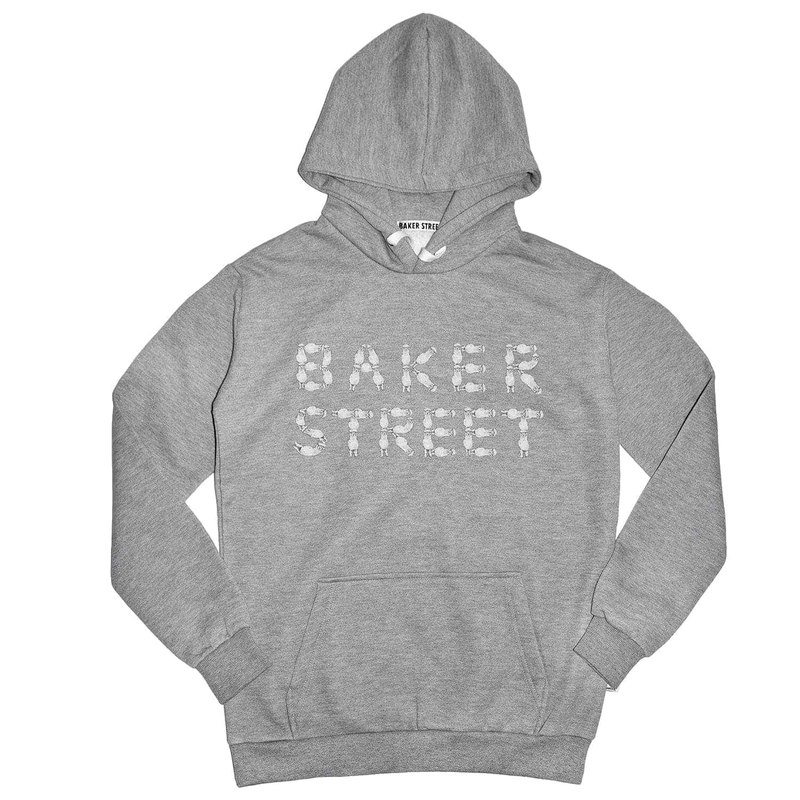 British Fashion Brand -Baker Street- Alpaca Fonts Printed Hoodie