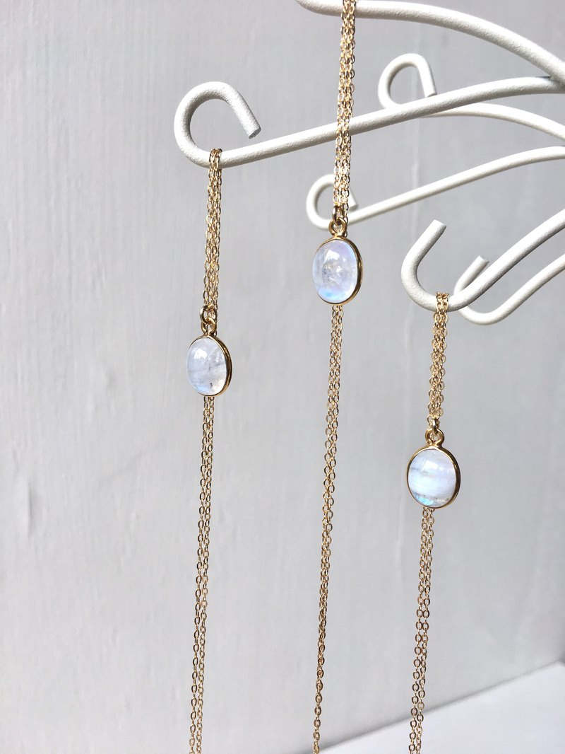 Moonstone necklace 14kgf
