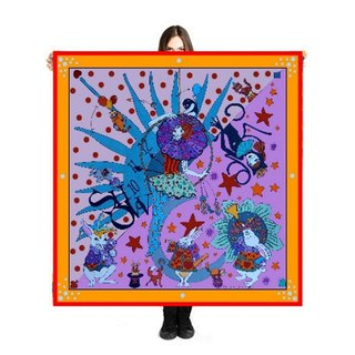 "Large Scarf/Sarong ""The Show"" 140x140cm Limited Edition 250 pieces"