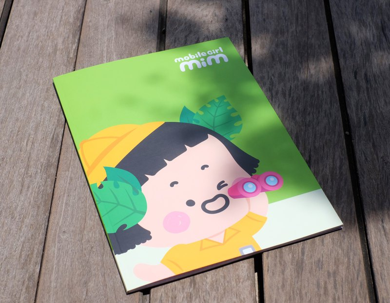 Mobile Girl Mim A4 Notebook Green
