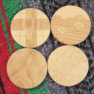 Chainloop TAB top beech coasters Manchuang solid wood logs do laser engraving life small objects healing small objects