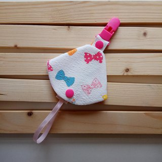Bow two-in-one pacifier clip < nipple dust bag + nipple clip> dual function