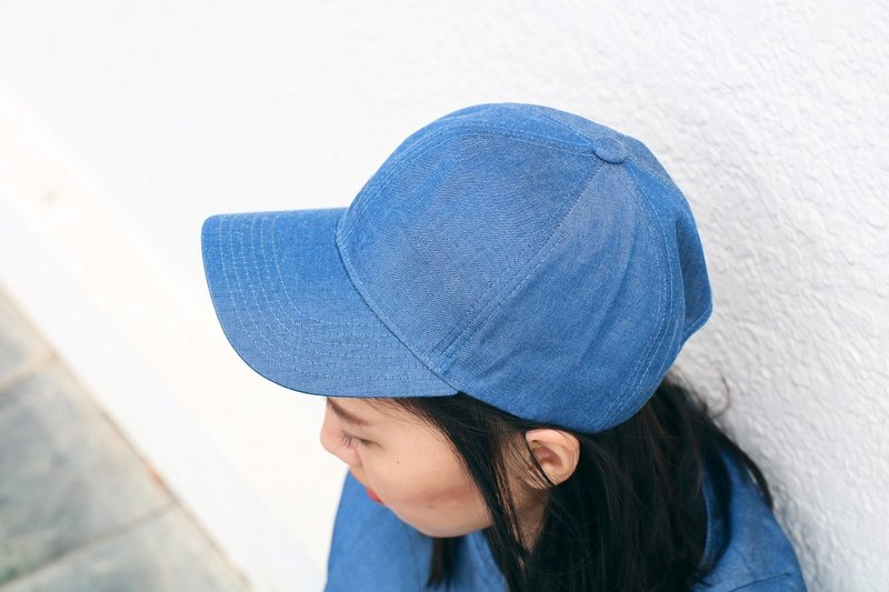Waterproof Denim Cowboy Baseball Cap - Sky Blue