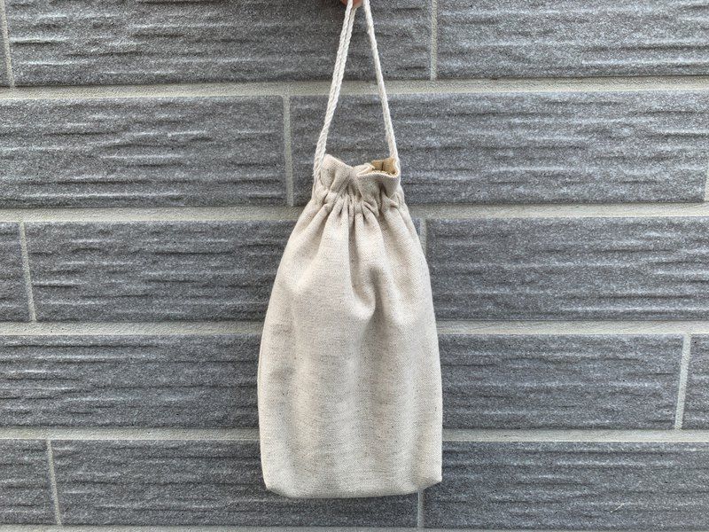 Simple wind cotton linen bag hand-sewn