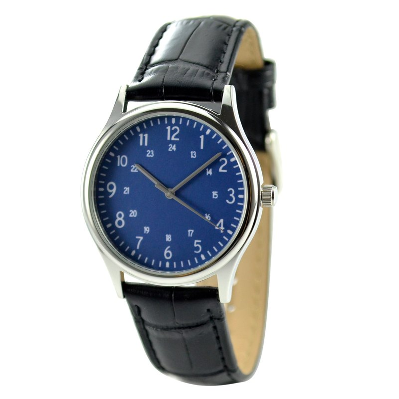 Minimalist number watches 1-24 Lapis Blue Face I Unisex I Free Shipping