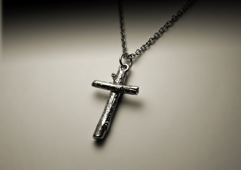 Big trunk cross necklace