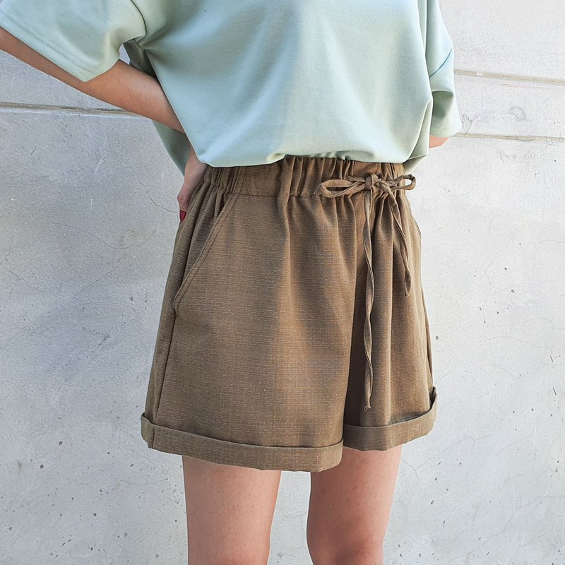Good vibes short pants - Olive