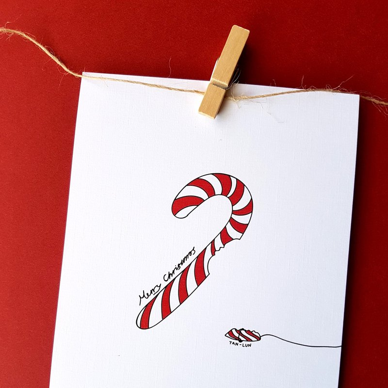 [Christmas card] Who stole my candy cane