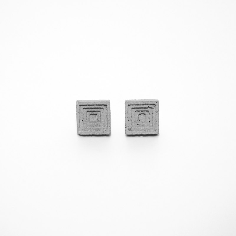 Square Concrete Earring (Large) | Layer Collection