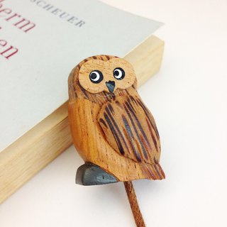 Owl Tote Bookmark ✦ September ︱ Handmade wooden bookmarks