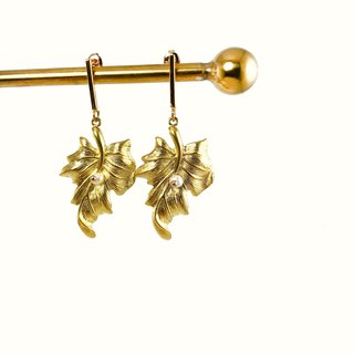 Minimalism - 925 Silver Gold Plated Earrings VII 【Christmas-gift】 【Wedding】