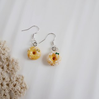 Japanese Clay Simple Ching Ching Sisters earrings LOVE MESSAGE