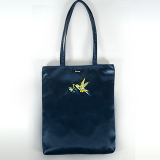 humming-Embroidery Bag / sapphire