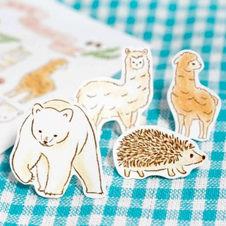 Forest Animal Sticker Set - Alpaca Polar Bear