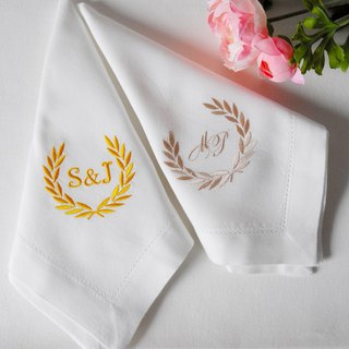 Personalized Napkins White napkins, custom dinner napkin, wedding party napkins