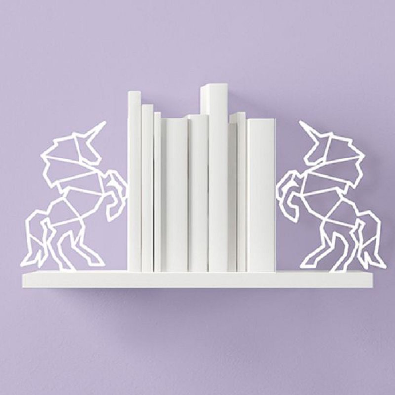 British Mustard Bookend - Unicorn