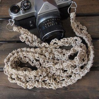 Lace-like hemp hemp camera strap / double ring type