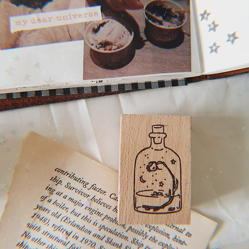 magic bottle rubber stamp for journaling