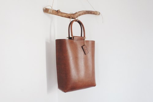 Leather tote bag handbag handheld bag
