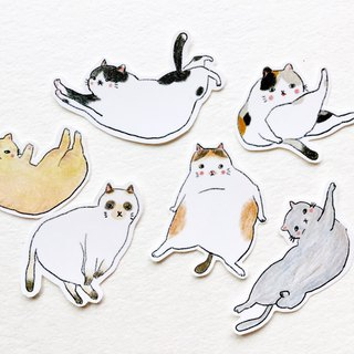 Color pencils Mishima cat sticker set
