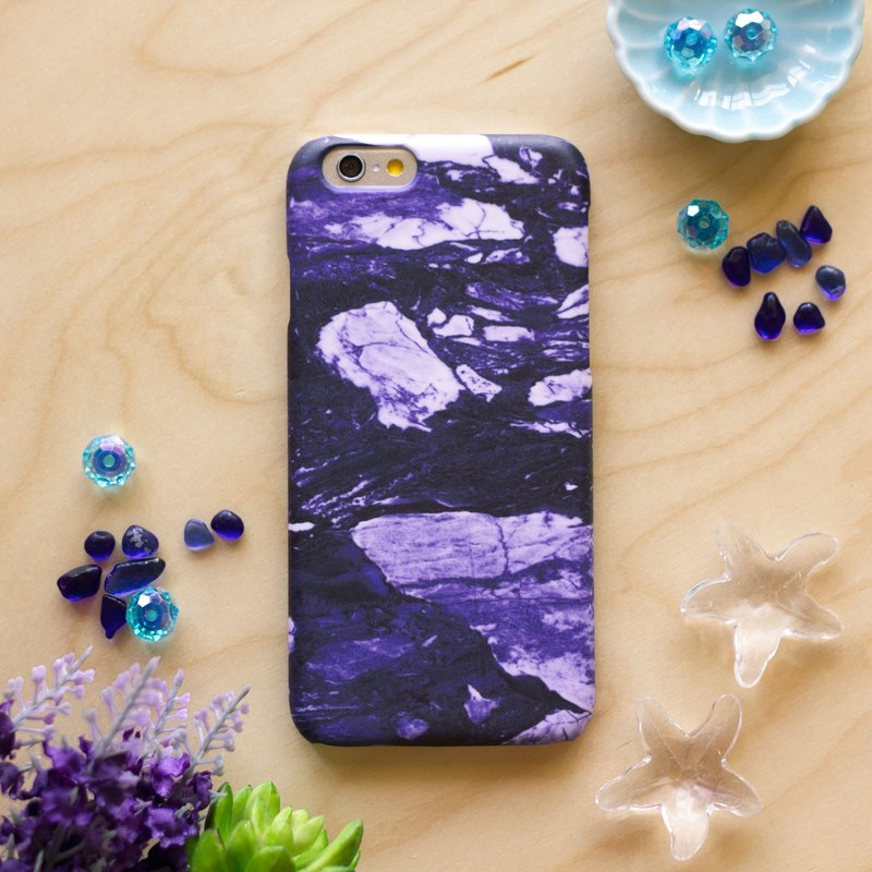Indigo Purple marble. Matte Case( iPhone, HTC, Samsung, Sony, LG, OPPO)