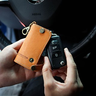 Leather car key bag car supplies key ring key bag gift DG36