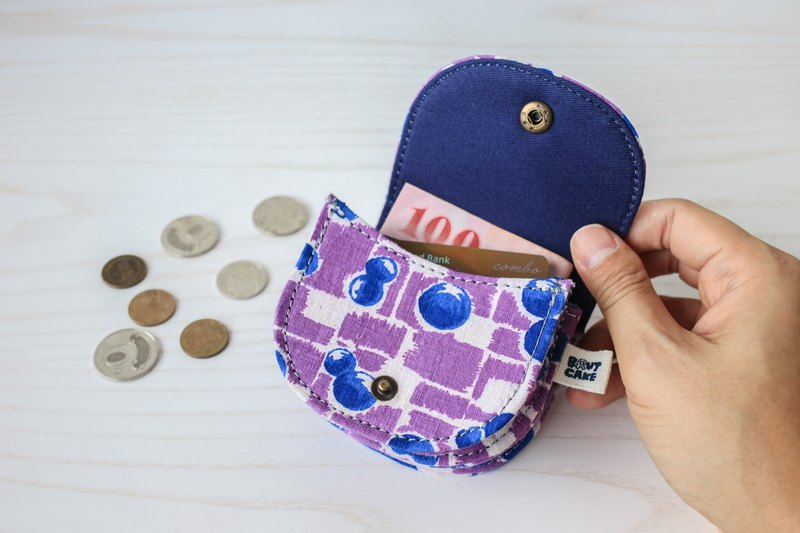 Brut Cake-Printed Vintage Cloth Coin Purse (15) Holds Small Change Cards and Earphones