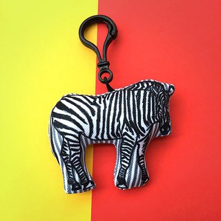 QQ Peng Peng key ring / strap part 4 - zebra with sausage dog with three cat with the dog