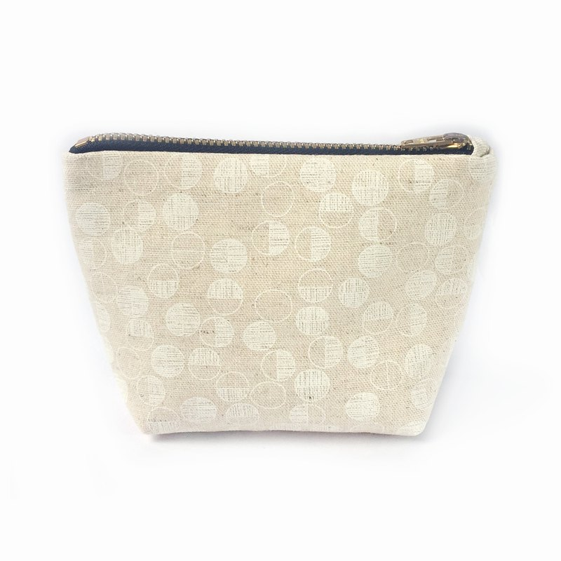 小钱包 Minimalist Coin Purse, Small Cotton Canvas Zipper Pouch- Little Maru