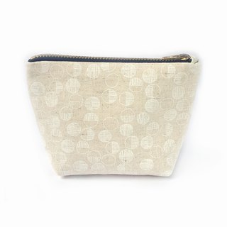 小钱包 Minimalist Coin Purse- Small Cotton Canvas Zipper Pouch- Little Maru