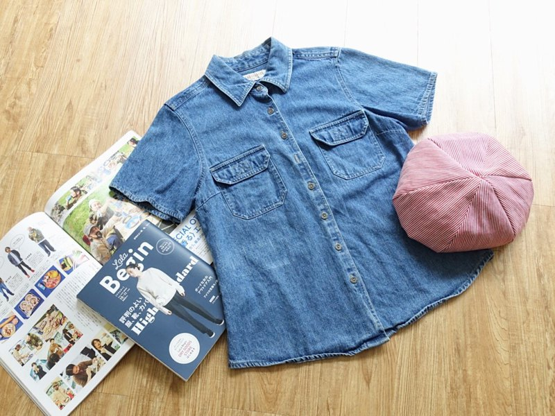 Vintage on / tannin short-sleeved shirt no.51 tk