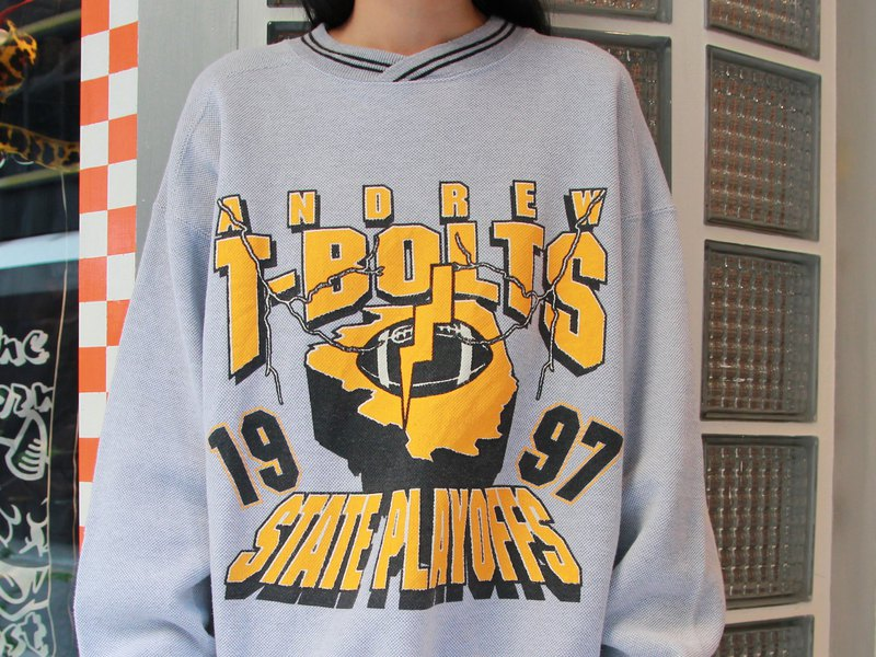 ///Fatty bone/// T-BOLTS VINTAGE University T Vintage Vintage