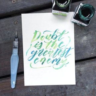 Custom Watercolor Hand Lettering (4 x 6 inch)