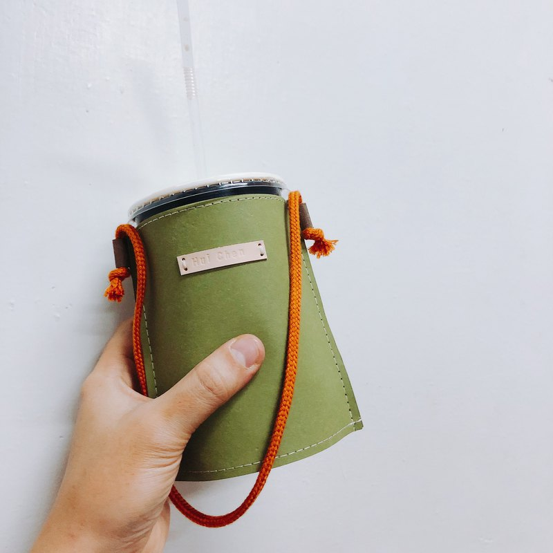 Come to this set of bags, tear, unwashed, kraft paper, drink bag, matcha green
