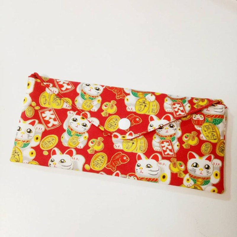 Universal fabric envelope bag - cute lucky cat