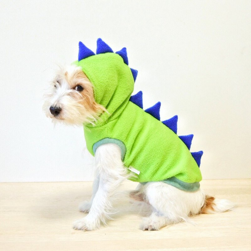 Dog hoodie Dino dog / Dino Green