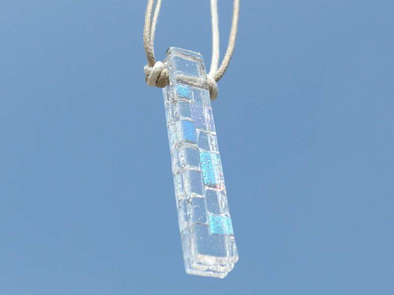 Aurora Glass (Aurora [Mix]) Necklace [Can be changed to an aroma pendant] [Made to order]