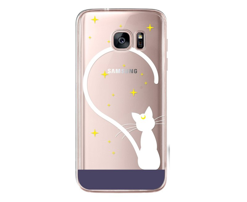 Transparent cute white cat iPhone X 8 7 6s Plus 5s Samsung note S7 S8 S9 plus HTC LG Sony Mobile Shell Mobile Phone Cases