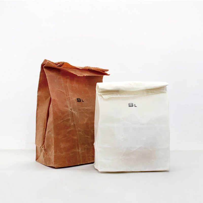 GROCERY BAG 9L White Distressed Trendy Grocery Storage Bag - White 9L