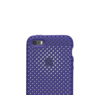 AndMesh i7/8Plus Japan QQ Dot Soft Impact Protection Cover - Indigo (4571384958516)