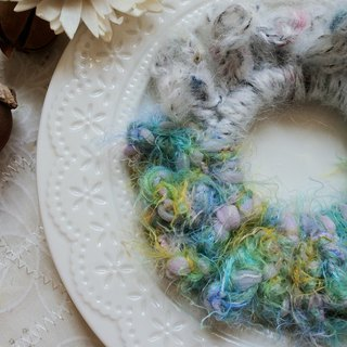 Weave small wreaths. Dream blue. Hair ring/hair bundle