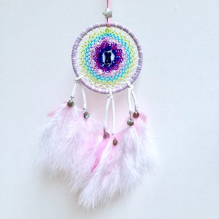 Wishing Dream Catcher round frame diameter of about 10.5 cm