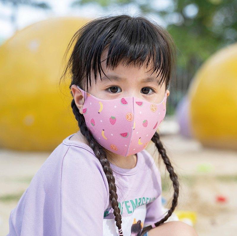 兒童-繽紛水果-3D立體透氣抗菌口罩1入